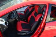 Фото 8 - Чехлы MW Brothers Mazda 2 (2007-2014), черно-красные + красная нить