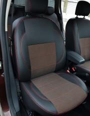 Фото 8 - Чехлы MW Brothers Renault Logan II (2012-2014), красная нить