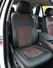 MW Brothers BMW X5 (F15) (2014-2018), коричневая алькантара + коричневая нить