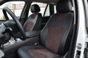 фото 3 - Чехлы MW Brothers BMW X5 (F15) (2014-2018), коричневая алькантара + коричневая нить