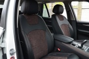 фото 6 - Чехлы MW Brothers BMW X5 (F15) (2014-2018), коричневая алькантара + коричневая нить