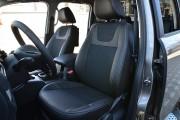фото 4 - Чехлы MW Brothers Volkswagen Amarok (2009-н.д.), серая нить