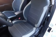 Фото 2 - Чехлы MW Brothers Hyundai Accent IV (Solaris) sedan (2011-2017), светлые вставки + серая нить