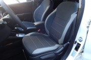 Фото 4 - Чехлы MW Brothers Hyundai Accent IV (Solaris) sedan (2011-2017), светлые вставки + серая нить