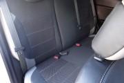 Фото 7 - Чехлы MW Brothers Hyundai Accent IV (Solaris) sedan (2011-2017), светлые вставки + серая нить