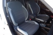 Фото 8 - Чехлы MW Brothers Hyundai Accent IV (Solaris) sedan (2011-2017), светлые вставки + серая нить