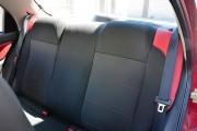 Фото 2 - Чехлы MW Brothers ZAZ Lanos T100 Hatchback (2009-н.д.), красные вставки+красная нить