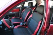 Фото 3 - Чехлы MW Brothers ZAZ Lanos T100 Hatchback (2009-н.д.), красные вставки+красная нить