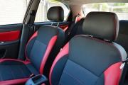 Фото 5 - Чехлы MW Brothers ZAZ Lanos T100 Hatchback (2009-н.д.), красные вставки+красная нить