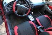 Фото 7 - Чехлы MW Brothers ZAZ Lanos T100 Hatchback (2009-н.д.), красные вставки+красная нить