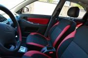 Фото 8 - Чехлы MW Brothers ZAZ Lanos T100 Hatchback (2009-н.д.), красные вставки+красная нить