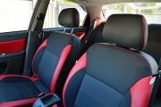 """'ото 4 - """"ехлы MW Brothers ZAZ Lanos T150 Sedan (2004-н.д.), красные вставки+красна¤ нить"""