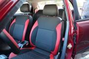 Фото 3 - Чехлы MW Brothers ZAZ Lanos T150 Sedan (2004-н.д.), красные вставки+красная нить