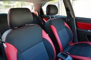 """'ото 5 - """"ехлы MW Brothers ZAZ Lanos T150 Sedan (2004-н.д.), красные вставки+красна¤ нить"""