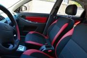 Фото 6 - Чехлы MW Brothers ZAZ Lanos T150 Sedan (2004-н.д.), красные вставки+красная нить