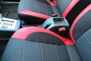 """'ото 7 - """"ехлы MW Brothers ZAZ Lanos T150 Sedan (2004-н.д.), красные вставки+красна¤ нить"""