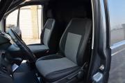 Фото 2 - Чехлы MW Brothers Mercedes-Benz Vito W639 (1+1) грузовой (2003-2014), серая нить