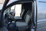Фото 3 - Чехлы MW Brothers Mercedes-Benz Vito W639 (1+1) грузовой (2003-2014), серая нить