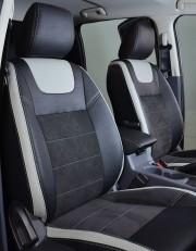 MW Brothers Ford Ranger III (2011-2015), светлые вставки+серая нить