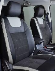 MW Brothers Ford Ranger III (2015-н.д.), светлые вставки + серая нить