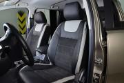 Фото 2 - Чехлы MW Brothers Ford Ranger III (2015-н.д.), светлые вставки + серая нить