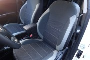 Фото 2 - Чехлы MW Brothers KIA Rio III sedan (2011-2017), светлые вставки + серая нить