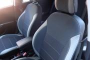 Фото 5 - Чехлы MW Brothers KIA Rio III sedan (2011-2017), светлые вставки + серая нить