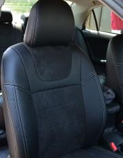MW Brothers Toyota Corolla (E150) (2007-2013), черная алькантара + серая нить