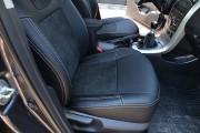 Фото 3 - Чехлы MW Brothers Toyota Corolla (E150) (2007-2013), черная алькантара + серая нить