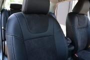 Фото 5 - Чехлы MW Brothers Toyota Corolla (E150) (2007-2013), черная алькантара + серая нить