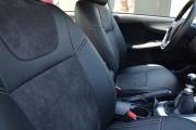Фото 6 - Чехлы MW Brothers Toyota Corolla (E150) (2007-2013), черная алькантара + серая нить