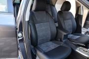 Фото 4 - Чехлы MW Brothers Toyota Corolla (E150) (2007-2013), алькантара графит + серая нить