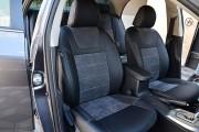 Фото 6 - Чехлы MW Brothers Toyota Corolla (E150) (2007-2013), алькантара графит + серая нить